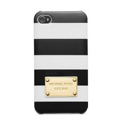 Michael Kors iPhone 5 Case Strips Black White